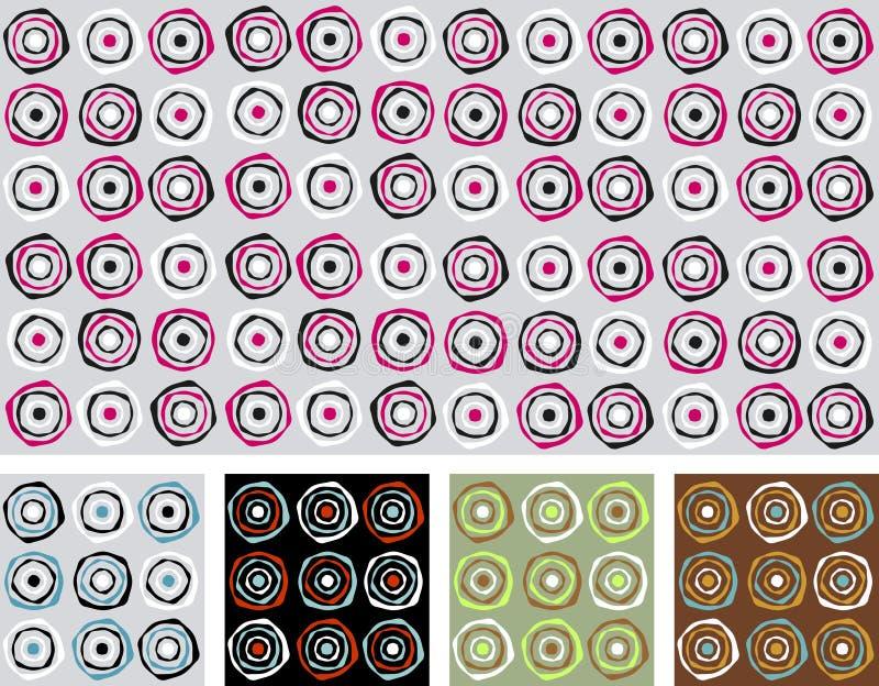 abstrakta retro zatwierdzenia bezszwowy wektora ilustracji