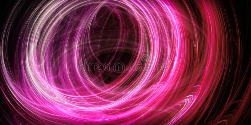 Abstrakta rosa energicirklar royaltyfri illustrationer
