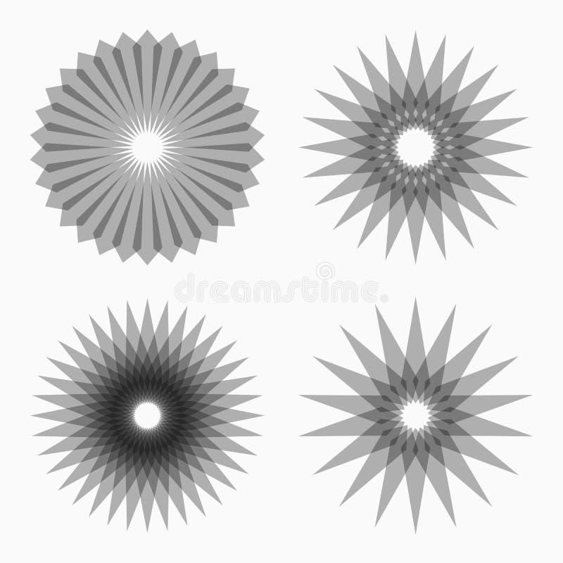 Abstrakta runda geometriska former royaltyfri illustrationer