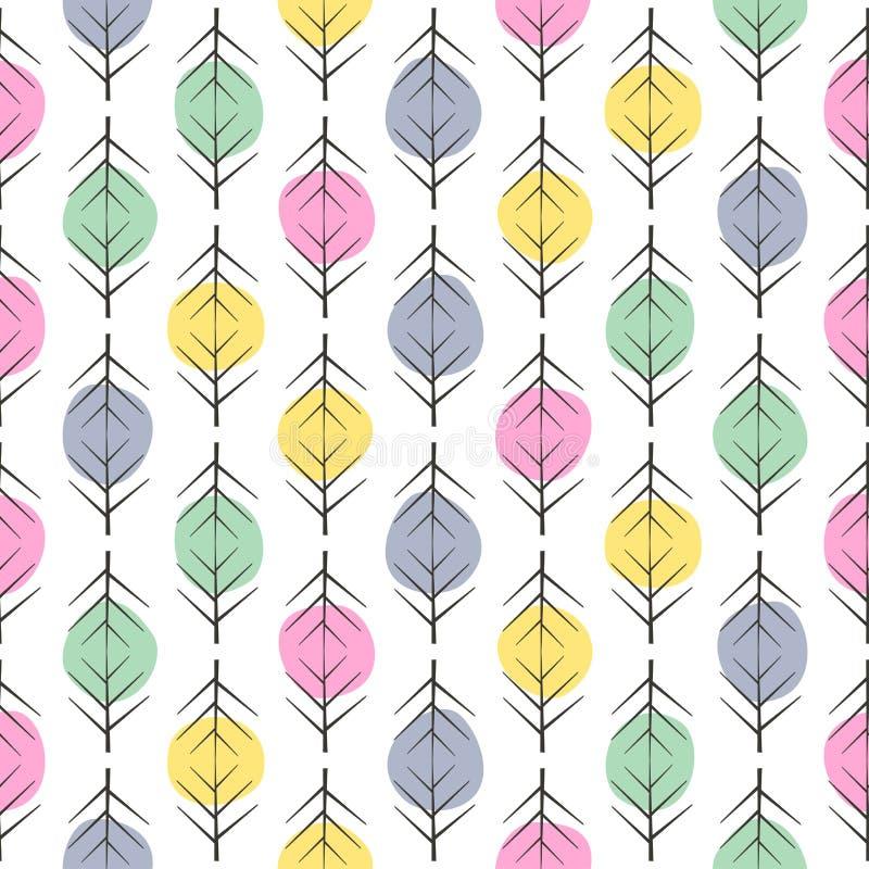Abstrakta sömlösa bakgrunder med färgrika prickar och grafiska beståndsdelar stock illustrationer