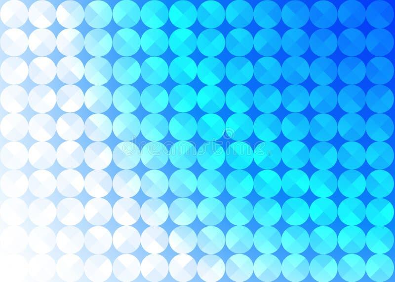 Abstrakta sömlösa skinande cirklar i blå bakgrund vektor illustrationer