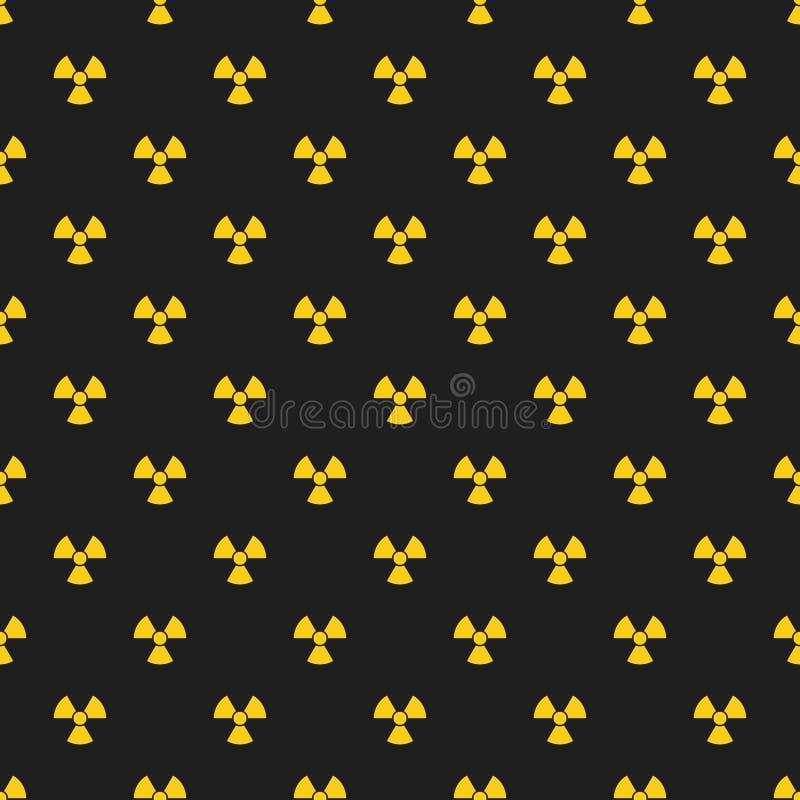 abstrakta schematu Żółte oceny napromienianie na czarnym tle irradiacja teren niebezpieczny Wektorowa ilustracja w płaskim stylu royalty ilustracja