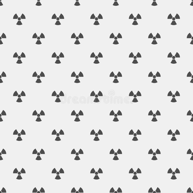 abstrakta schematu Czarni napromienianie znaki na białym tle irradiacja teren niebezpieczny Wektorowa ilustracja w płaskim stylu ilustracja wektor