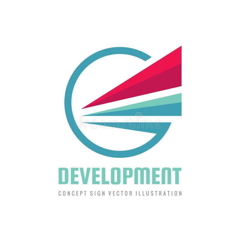 Abstrakta skrzydło w okręgu kształcie - pojęcie loga szablonu wektoru biznesowa ilustracja Postępu rozwoju kreatywnie znak trójbo royalty ilustracja