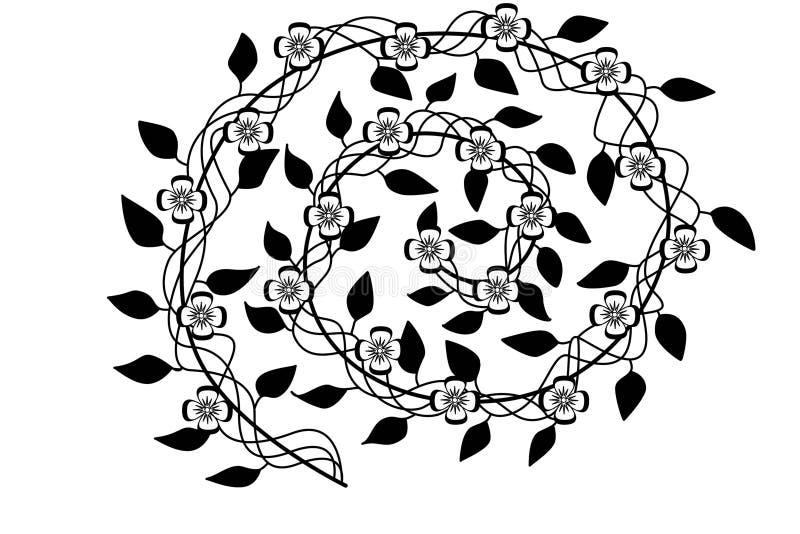 Abstrakta spiralblommor royaltyfri fotografi