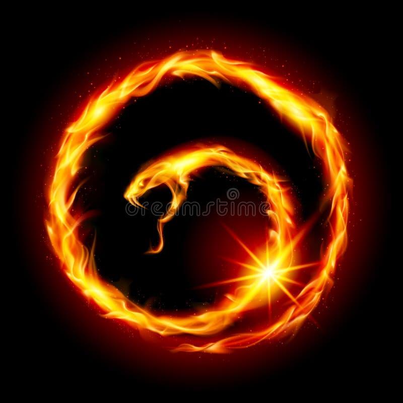 Abstrakta spirali wąż ilustracja wektor