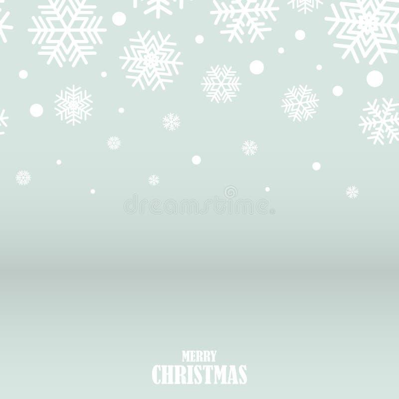 Abstrakta srebny i biały płatków śniegu bożych narodzeń tło, vecto ilustracja wektor
