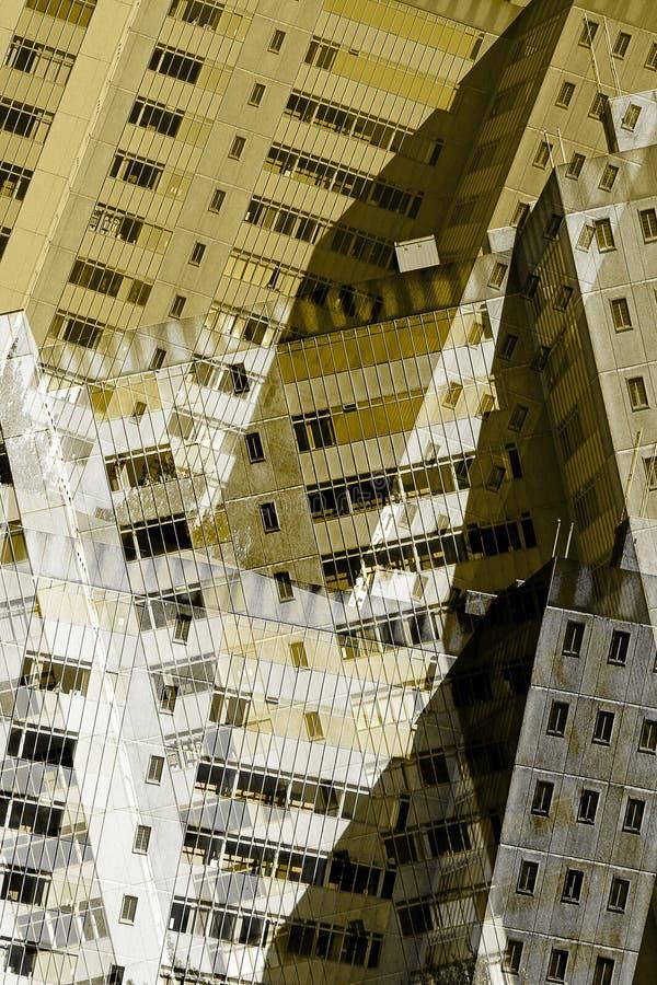 Abstrakta stadsbyggnader royaltyfri fotografi