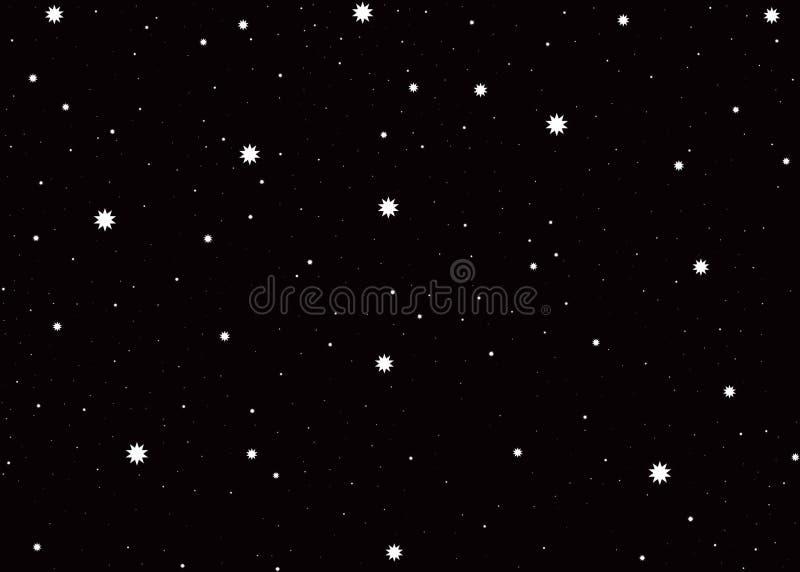 Abstrakta stjärnor i natthimmel arkivfoton