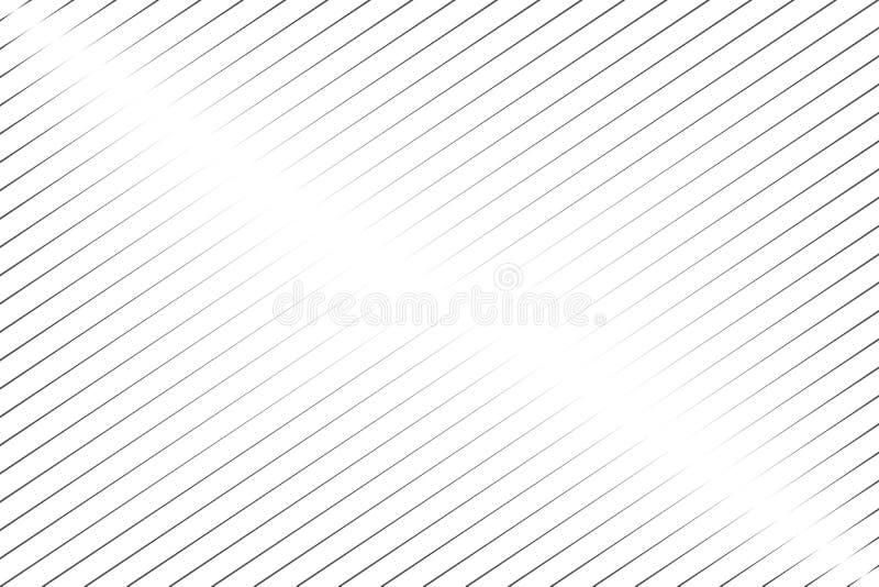 Abstrakta svarta sneda linjer på den vita bakgrundsvektorillustrationen royaltyfri illustrationer