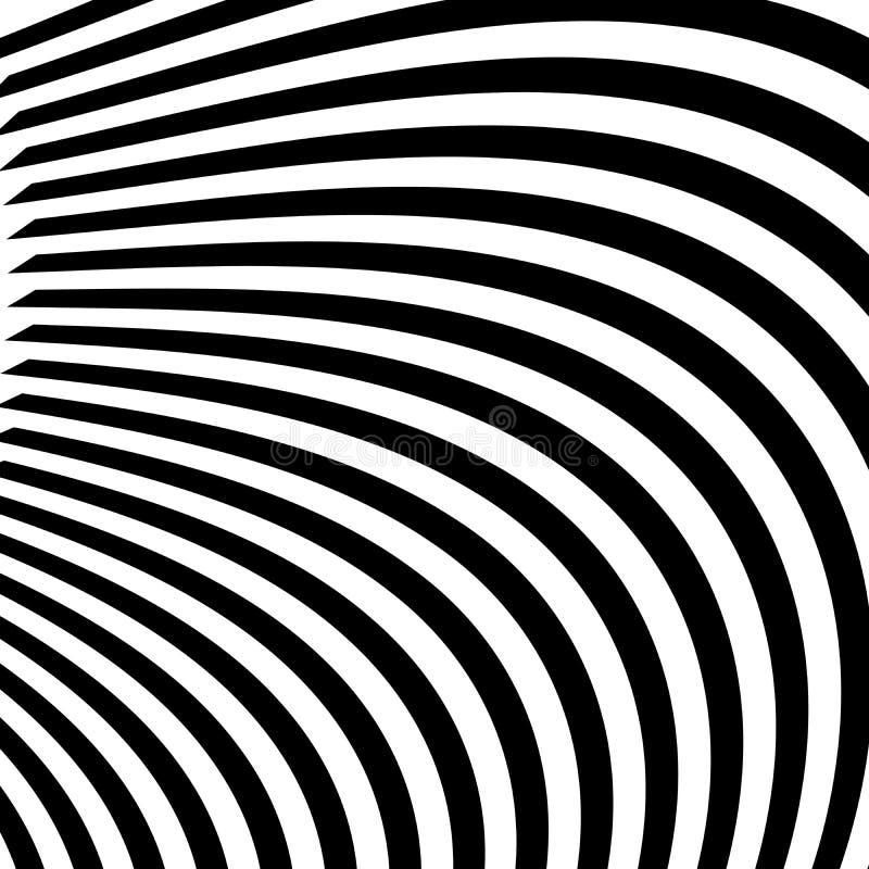 Abstrakta svartvita abstrakt begrepplinjer stock illustrationer