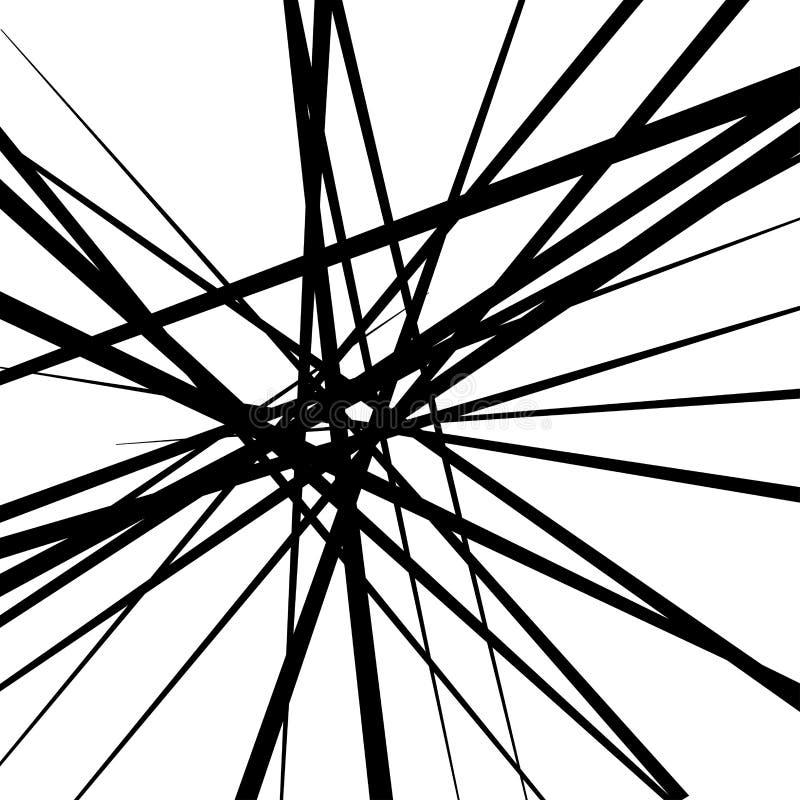 Abstrakta svartvita linjer bakgrund vektor illustrationer