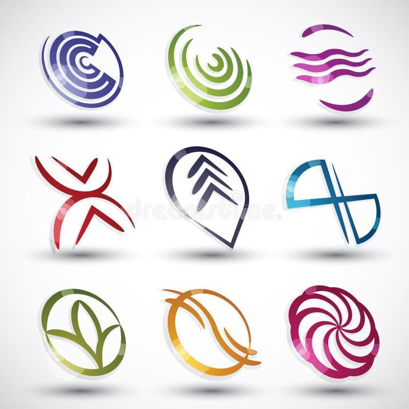 Abstrakta symboler 2 för modern stil royaltyfri illustrationer