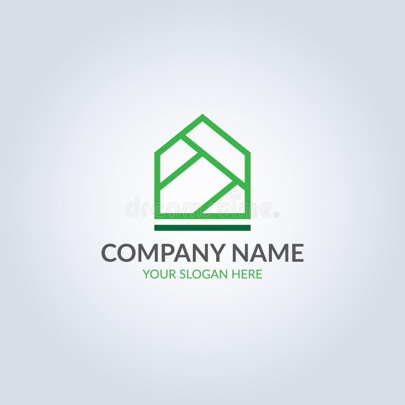 Abstrakta symbolu domowy logo w błękitnego koloru gradientowym kolorze projekta pożarniczy notatnika szablonu pisać twój royalty ilustracja