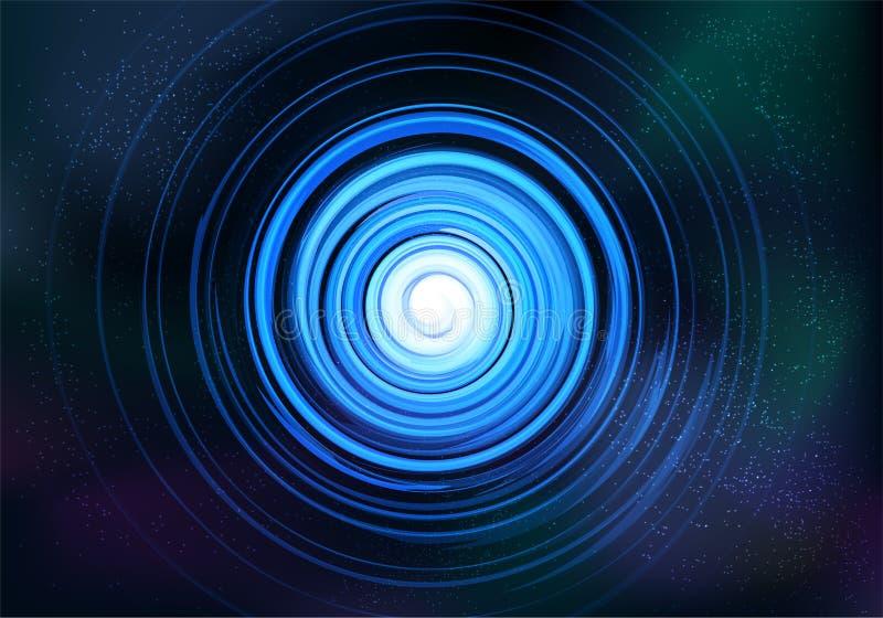 Abstrakta symmetriska blått för galax för fractaltrombspiral royaltyfri illustrationer