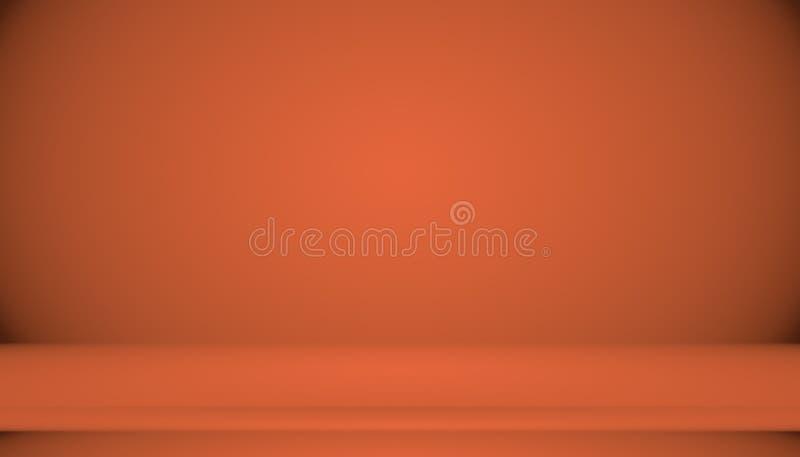 Abstrakta tła układu Gładki Pomarańczowy projekt, studio, pokój, sieć szablon, Biznesowy raport z gładkim okręgu gradientem ilustracji