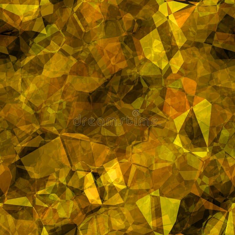 Abstrakta tileable guld- polygoner stock illustrationer