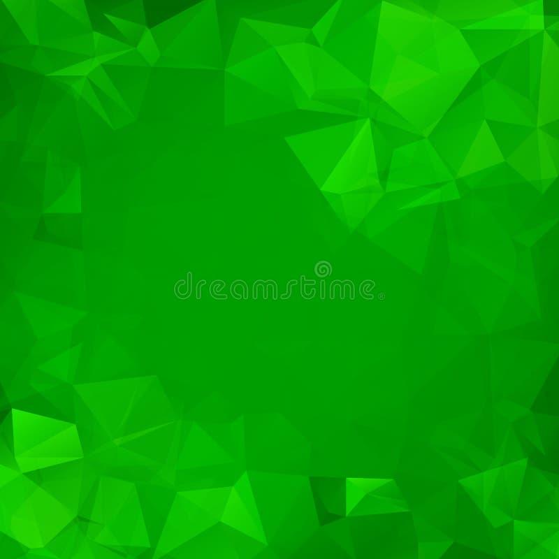 Abstrakta trójboka zielony geometryczny tło ilustracji
