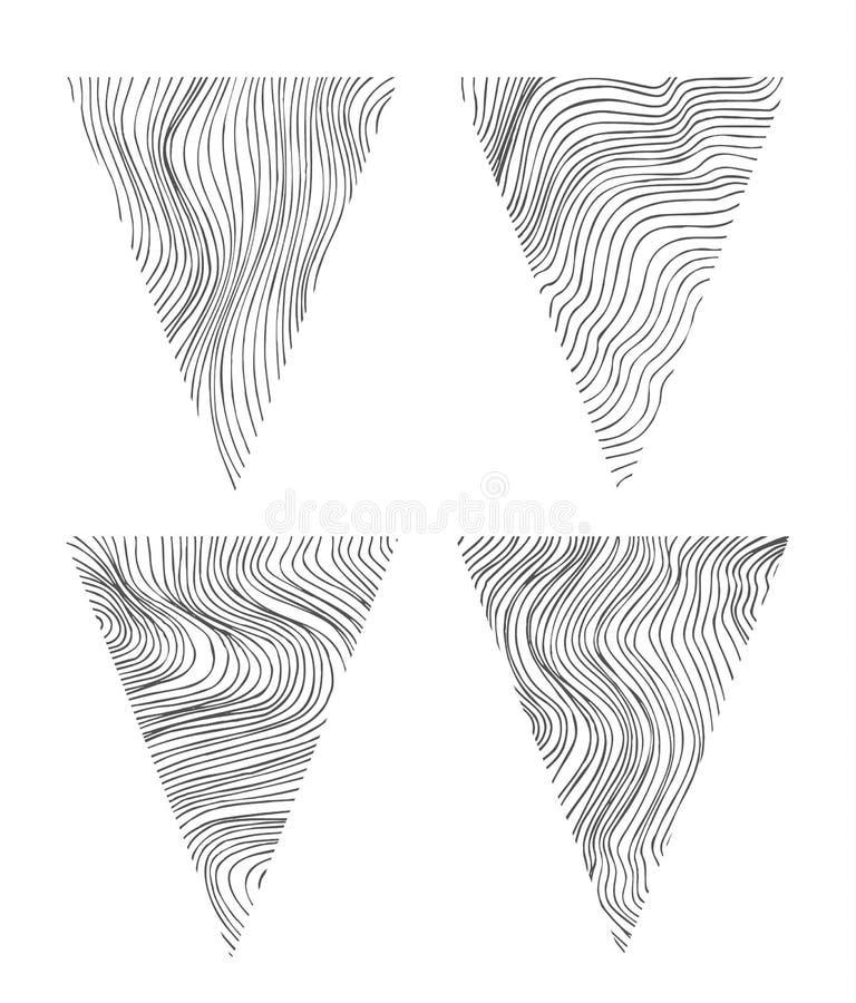 Abstrakta triangelformer vektor illustrationer
