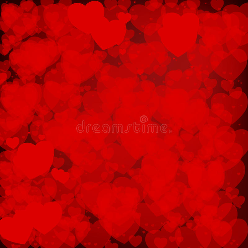 Abstrakta Valentine Background royaltyfri illustrationer