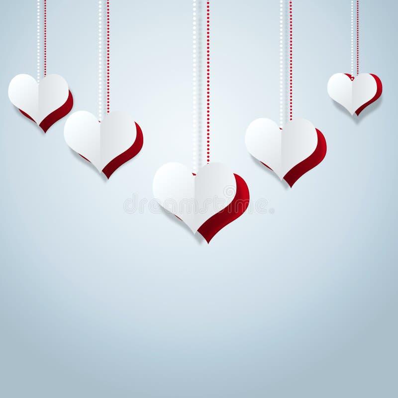 Abstrakta Valentine Decoration royaltyfri illustrationer
