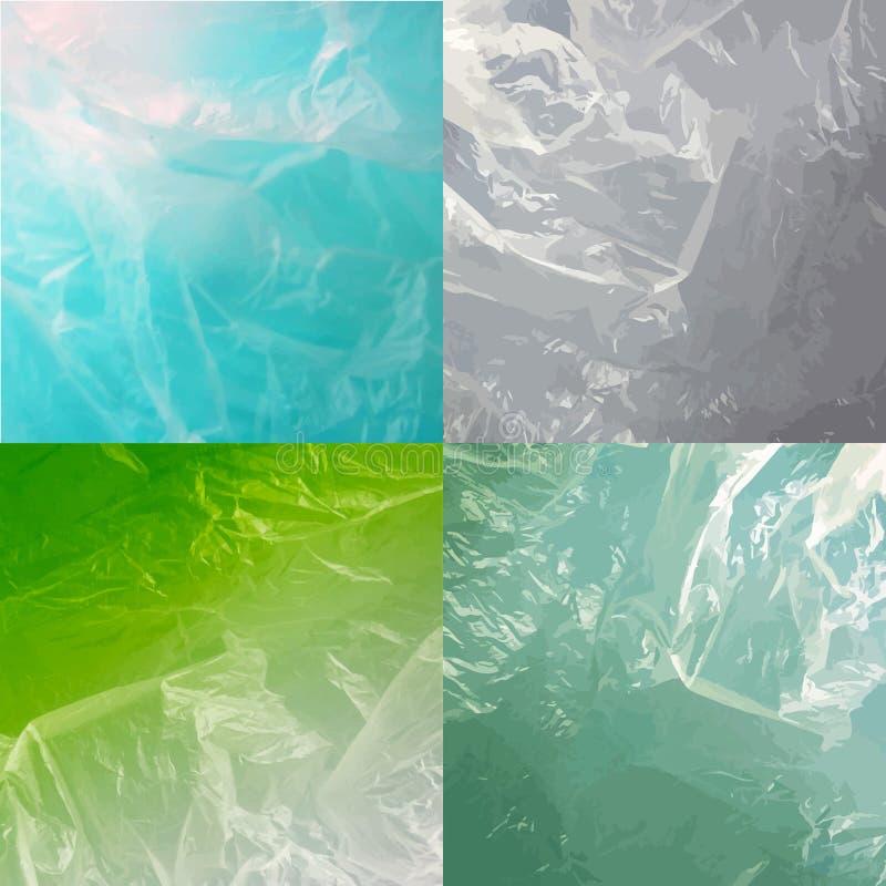 Abstrakta vattenbakgrunder med den färgrika uppsättningen för vågor vektor illustrationer