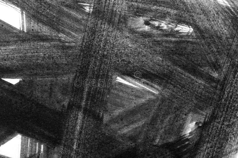 Abstrakta vattenfärgborsteslaglängder av målarfärg på vitbokbackgr royaltyfri foto