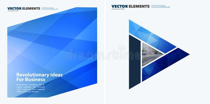 Abstrakta vektordesignbeståndsdelar för grafisk orientering Modern affärsbakgrundsmall royaltyfri illustrationer