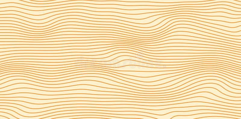 Abstrakta vektorisolines i bruna färger royaltyfri bild