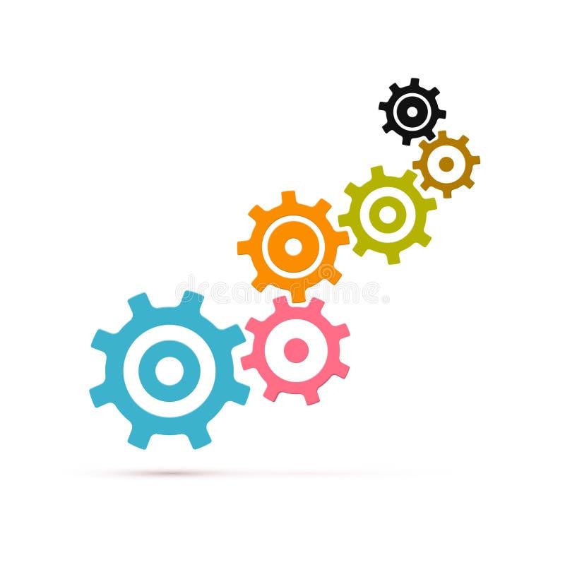 Abstrakta vektorkuggar - kugghjul vektor illustrationer