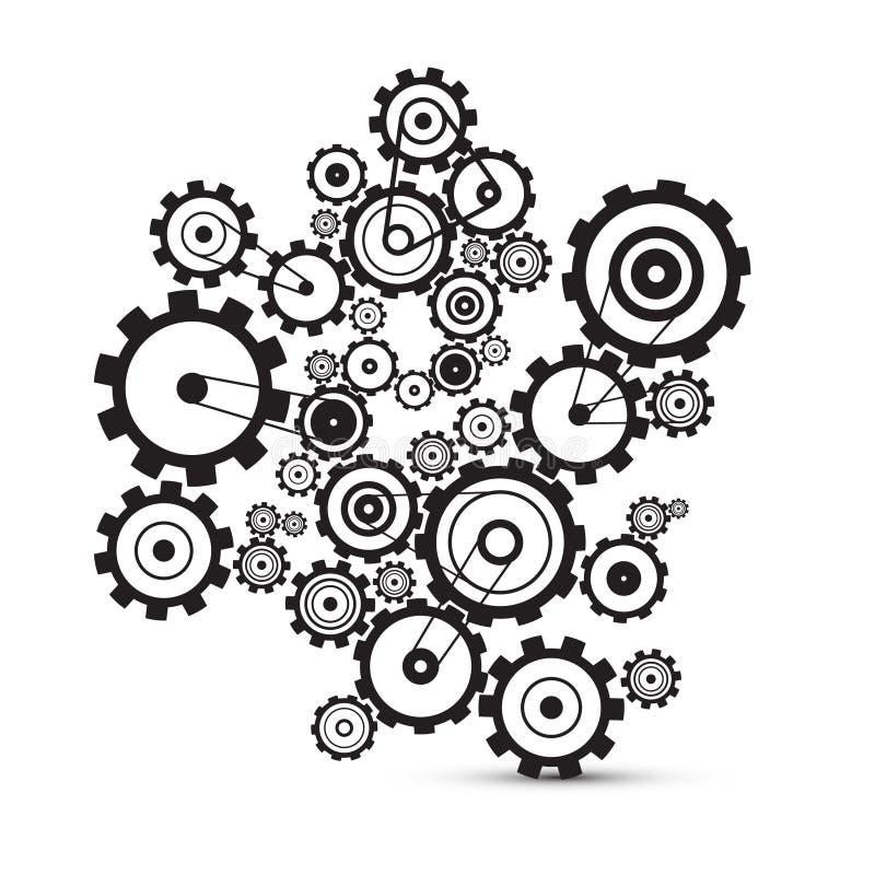 Abstrakta vektorkuggar - kugghjul royaltyfri illustrationer