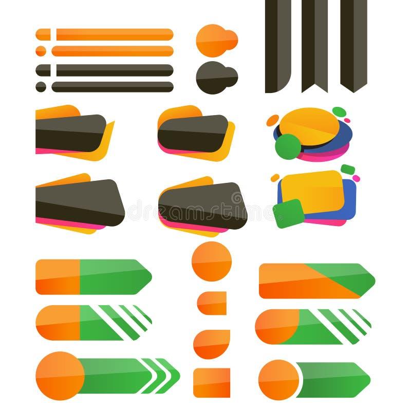 Abstrakta vektorrengöringsdukknappar stock illustrationer