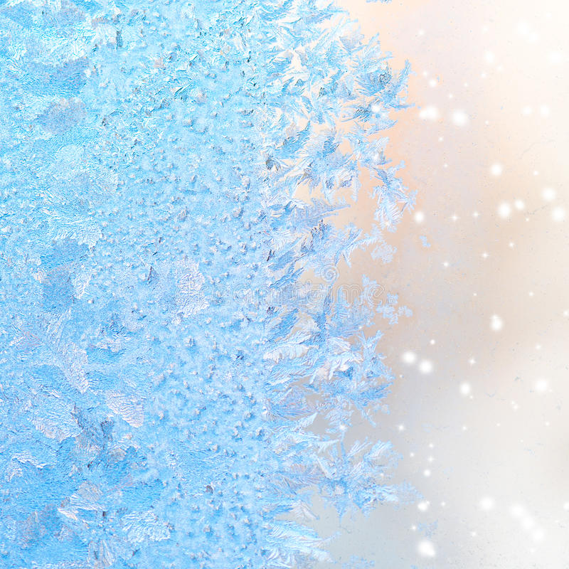 Abstrakta vinterismodeller på fönster, jul bakgrund, cl royaltyfri foto
