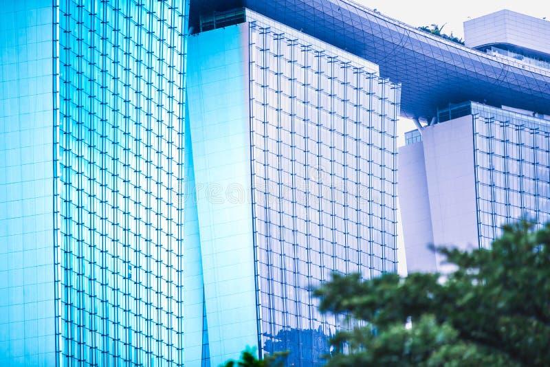 Abstrakta wierza - Singapur obrazy royalty free