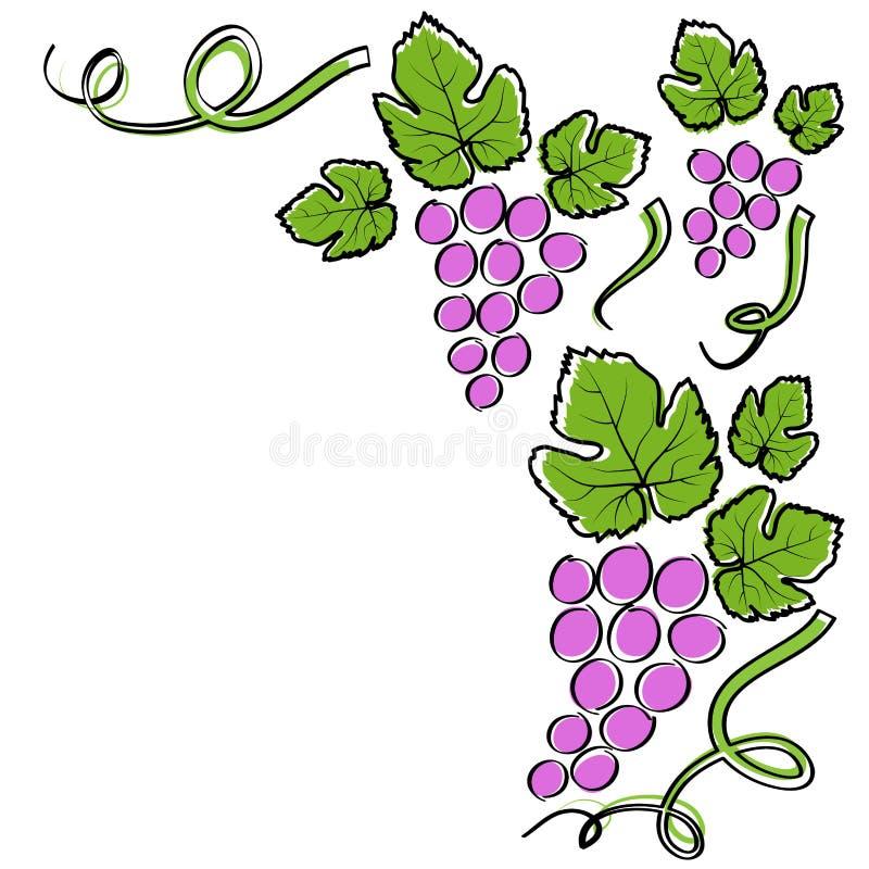 Abstrakta winogrona kreskowa rama royalty ilustracja