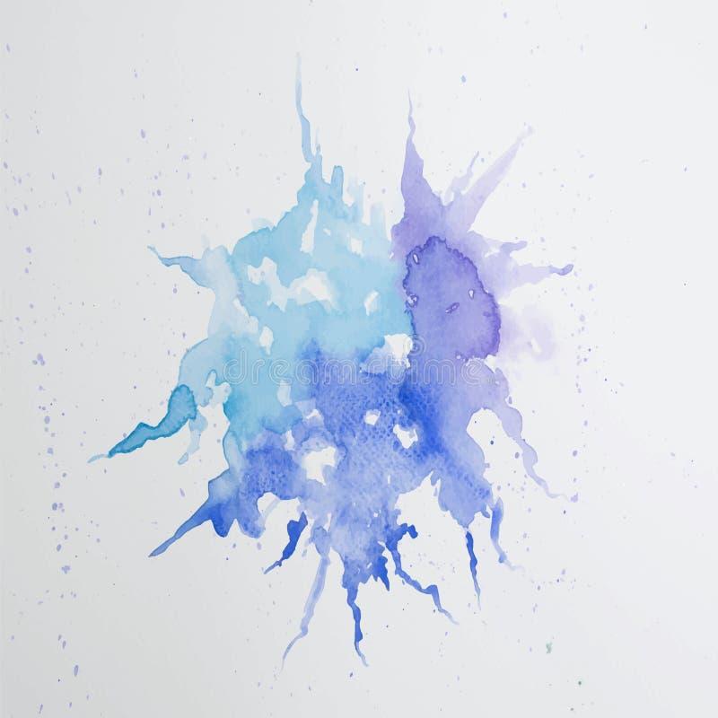 Abstrakta wodny kolorowy obraz Pastelowego koloru wektoru illustrati ilustracji