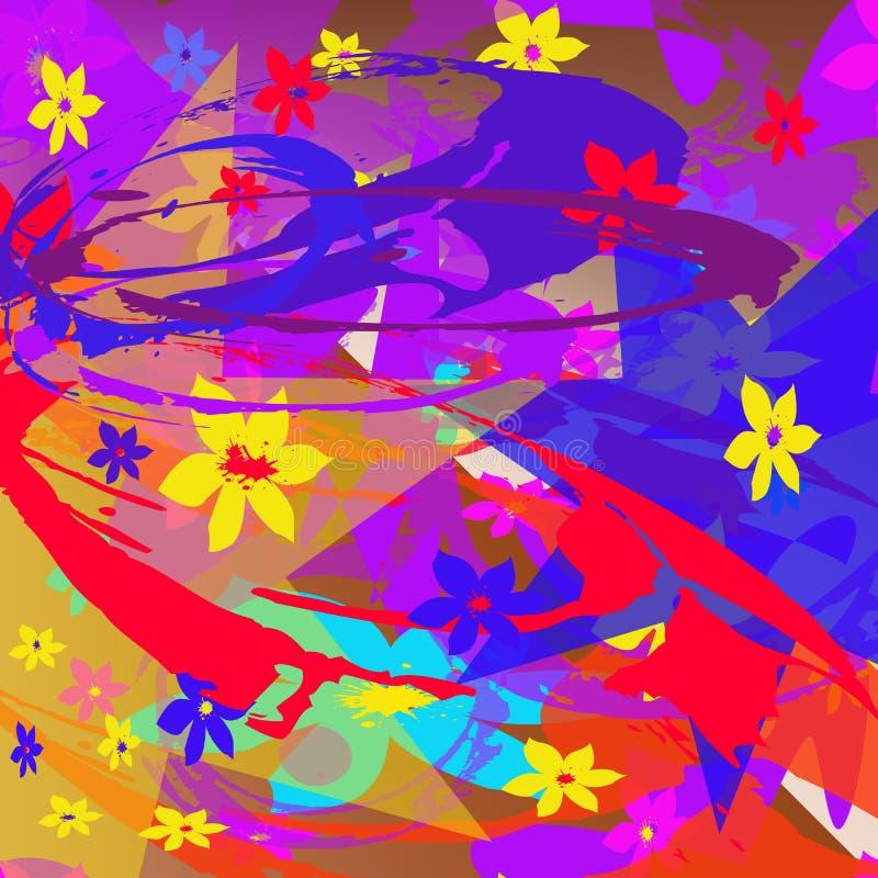 Abstrakta wzór barwiący elementy ilustracja wektor