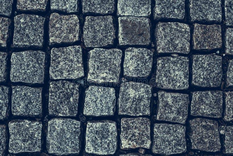 Abstrakta wzór kamienna mozaika Taupe Kamiennej ściany tła tekstura Mieszkanie nieatutowy wzór Zmrok ściany z cegieł popielaty tł obrazy stock