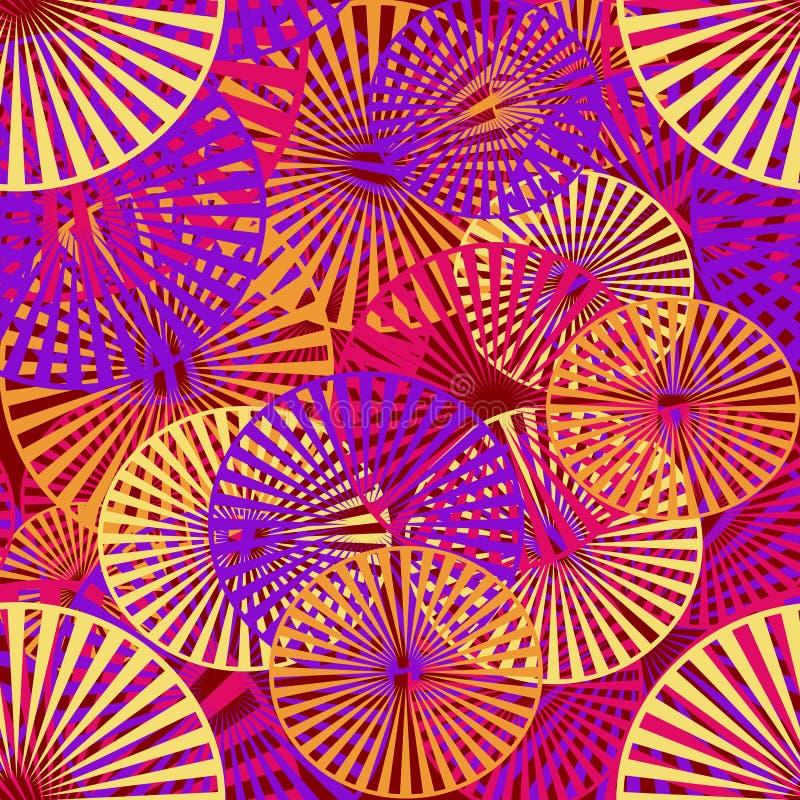 Abstrakta wzór stubarwni okręgi ilustracja wektor