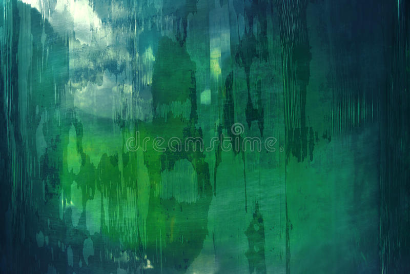 Abstrakta wzór w zieleni i błękicie obraz stock