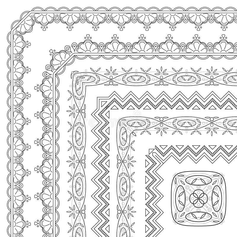 Download Abstrakta Wzoru Rama, Kontur Ilustracja Wektor - Ilustracja złożonej z wyznaczający, czerń: 28951770