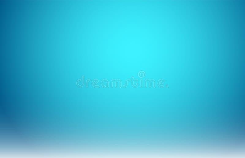 Abstrakta zamazany błękitny gradient z oświetleniowym tłem ilustracji