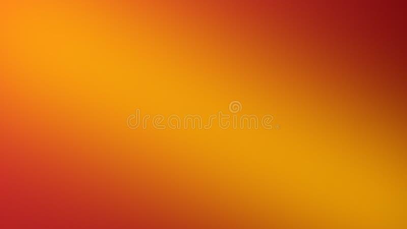Abstrakta zamazany pomarańczowy gradientowy tło Kolorowy gładki sztandaru szablon royalty ilustracja
