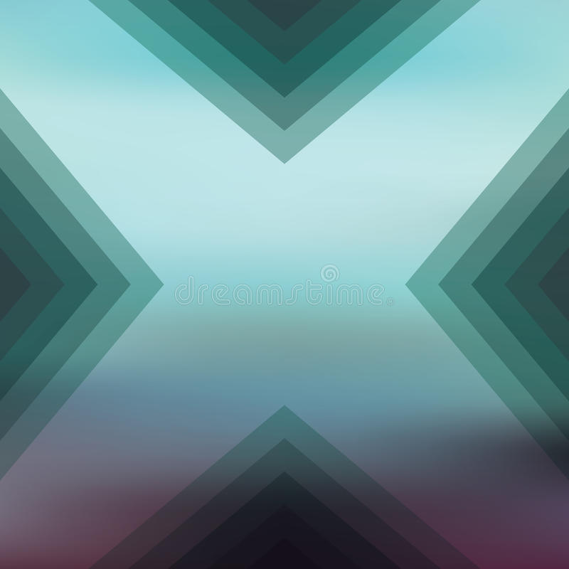 Abstrakta zamazany tło z geometrycznymi kształtami ilustracji