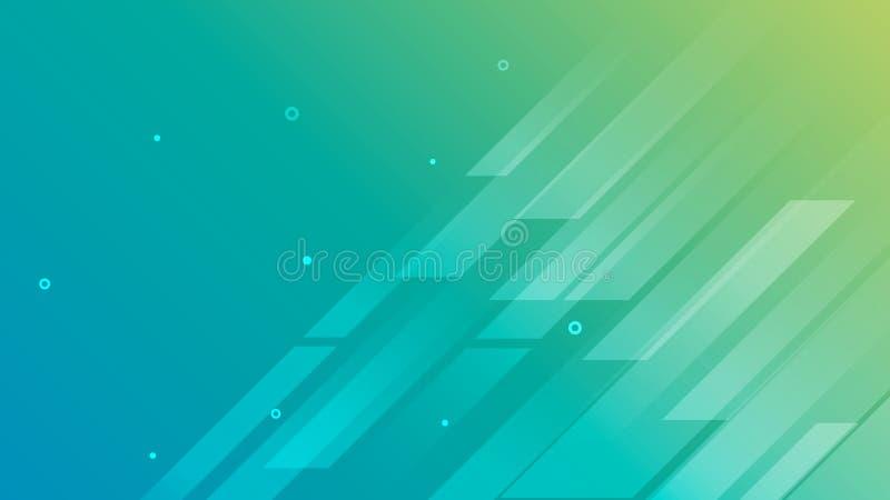 Abstrakta zielonego dynamicznego składu kształta tła geometryczna tapeta royalty ilustracja