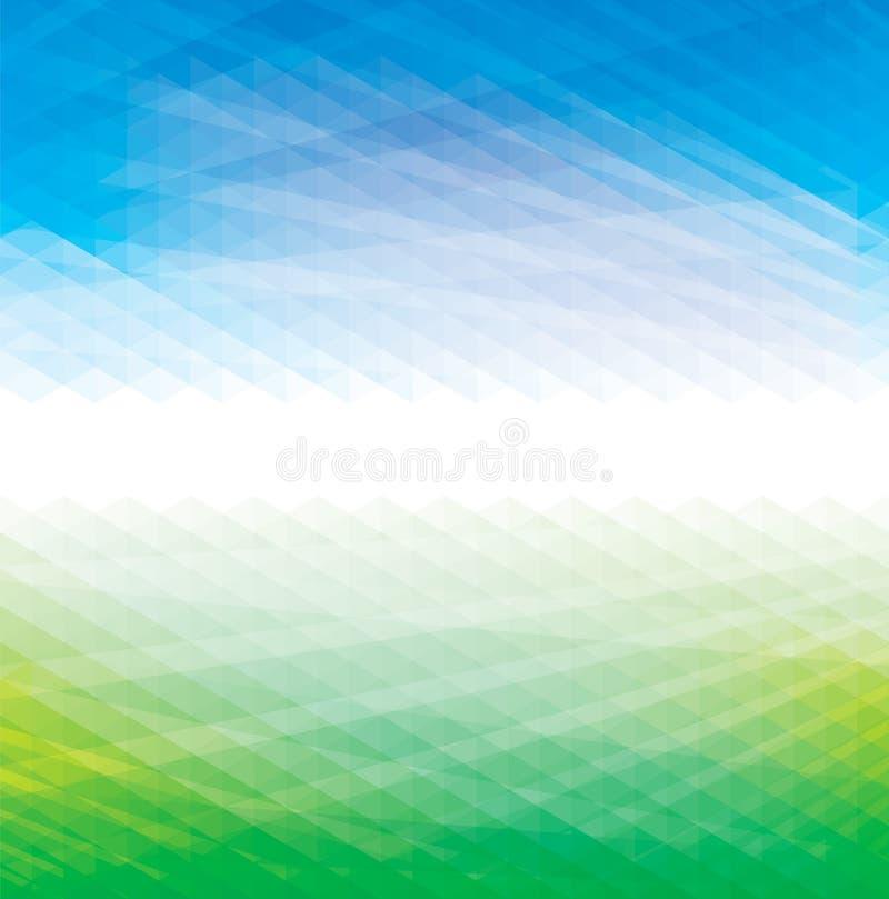 Abstrakta zielony błękitny tło royalty ilustracja
