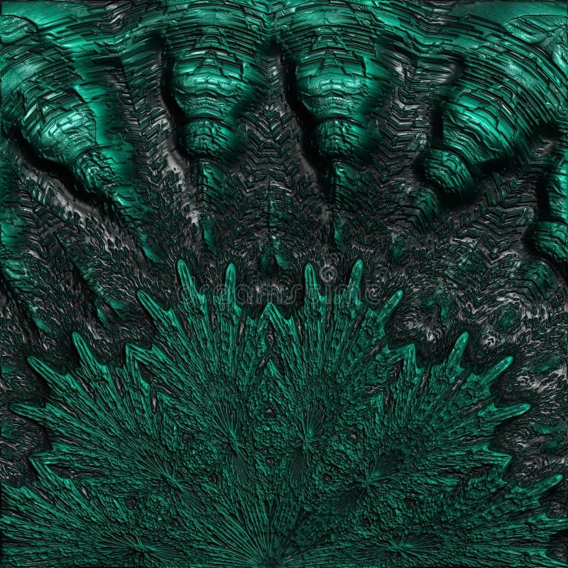 Abstrakta zielony koral royalty ilustracja
