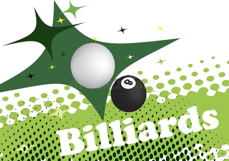 Abstrakta zielony tło dla bilardowego sztandaru ilustracja wektor