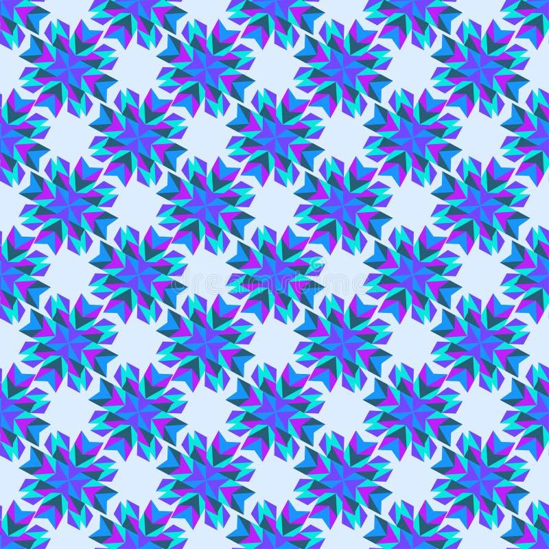 : abstrakta zmrok i menchie - błękit kwitnie na bławym tle ilustracji