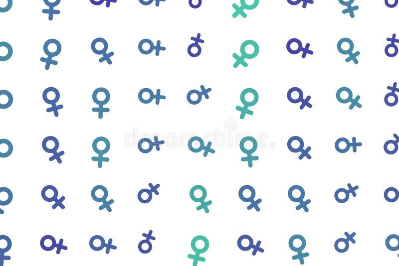 Abstrakta znak męski lub żeński generatywny sztuki tło Szczegóły, tapeta, szablon & pojęcie, ilustracji